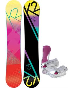 K2 GB Pop Snowboard w/ Avalanche Serenity Bindings
