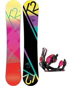 K2 GB Pop Snowboard w/ Rossignol Myth Bindings
