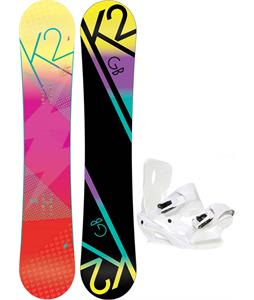 K2 GB Pop Snowboard w/ Sapient Zeta Bindings