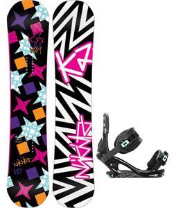 K2 Vavavoom Rocker Snowboard w/ K2 Yeah Yeah Bindings