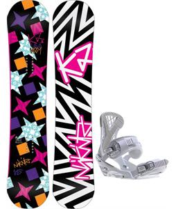K2 Vavavoom Rocker Snowboard w/ Sapient Zeta Bindings