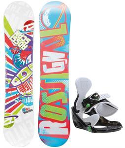 Rossignol Scan Amptek Smalls Snowboard w/ Burton Grom Bindings