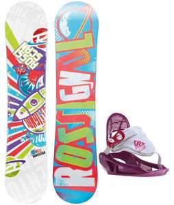 Rossignol Scan Amptek Smalls Snowboard w/ K2 Lil Kat Bindings