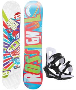 Rossignol Scan Amptek Smalls Snowboard w/ Chamonix Savoy Bindings