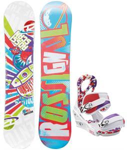 Rossignol Scan Amptek Snowboard w/ Burton Stiletto Smalls Bindings