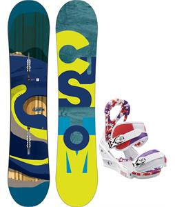 Burton Custom Smalls Snowboard w/ Burton Stiletto Smalls Bindings