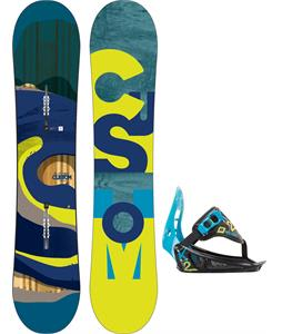 Burton Custom Smalls Snowboard w/ K2 Mini Turbo Bindings