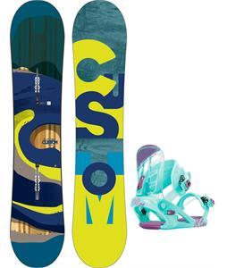 Burton Custom Smalls Snowboard w/ K2 Kat Bindings