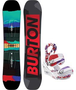 Burton Process Smalls Blem Snowboard w/ Burton Stiletto Smalls Bindings