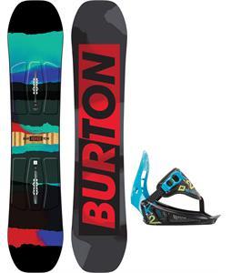 Burton Process Smalls Blem Snowboard w/ K2 Mini Turbo Bindings