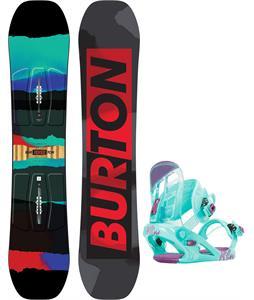 Burton Process Smalls Blem Snowboard w/ K2 Kat Bindings