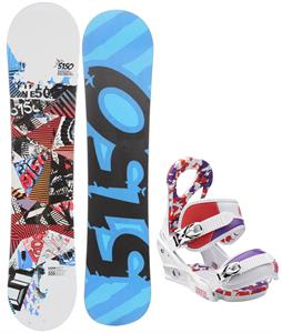 5150 Shooter Snowboard w/ Burton Stiletto Smalls Bindings