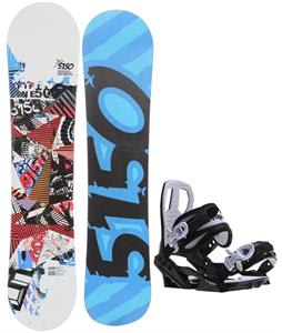 5150 Shooter Snowboard w/ Sapient Zeus Jr Bindings