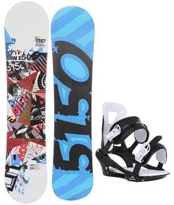 5150 Shooter Snowboard w/ Chamonix Savoy Bindings