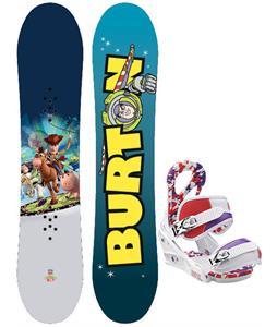 Burton Chopper Toy Story Snowboard w/ Burton Stiletto Smalls Bindings