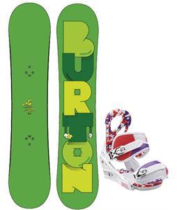 Burton Super Hero Smalls Snowboard w/ Burton Stiletto Smalls Bindings
