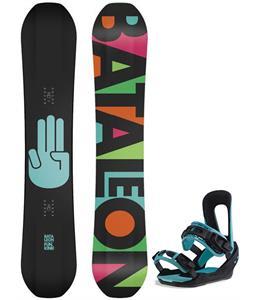 Bataleon Fun.Kink Wide Snowboard w/ Switchback Fun.Kink Bindings