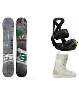 Burton Blunt Wide Snowboard w/ Westford Boots & Custom Bindings