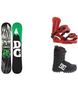 DC Force Snowboard w/  DC Phase Boots & Union Force Bindings
