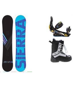 Sierra Reverse Crew Snowboard w/  2117 Holmstad Boots & Rome S90 Bindings