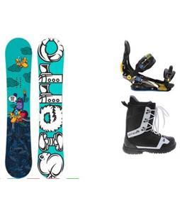 Sierra Stunt Wide Snowboard w/  Arctic Edge 1080 Boots & Rome S90 Bindings