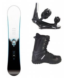 Rossignol Circuit Snowboard w/ Sapient Method Boots Black & Sapient Slopestyle Bindings Black