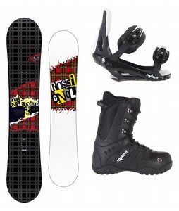 Rossignol Contrast Snowboard w/ Sapient Method Boots Black & Sapient Slopestyle Bindings Black
