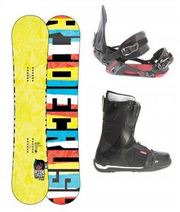 Ride Crush Snowboard w/ Ride Flight Boots Black & Ride EX Bindings Black