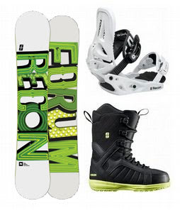Forum Recon Wide Snowboard w/ Forum Fastplant Snowboard Boots & Forum Recon Snowboard Bindings