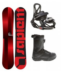 Sapient Fader Snowboard w/ 32 - Thirty Two BOA Snowboard Boots & Sapient Prodigy Snowboard Bindings