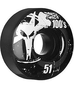 Bones 100's OG Skateboard Wheels Black 51mm