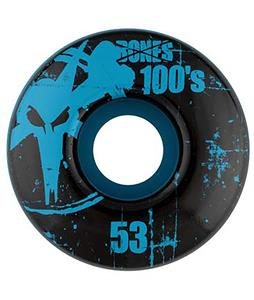 Bones 100's OG Skateboard Wheels Blue 53mm
