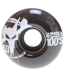 Bones 100's OG Skateboard Wheels Black 53mm