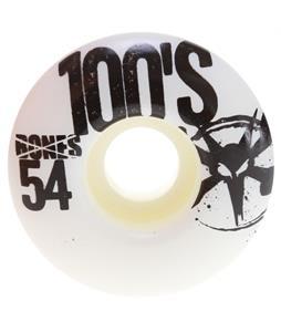 Bones 100's OG Skateboard Wheels Natural 54mm