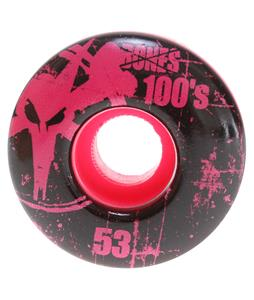 Bones 100's OG Skateboard Wheels Pink 53mm
