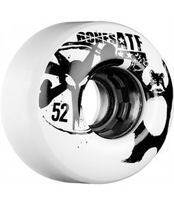 Bones ATF Da Bear Skateboard Wheels White 52mm