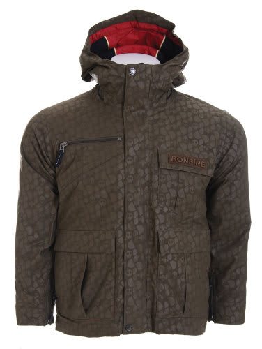 Bonfire Exchange Snowboard Jacket Olive