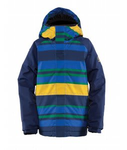 Bonfire All Star Snowboard Jacket True Blue Govy Print