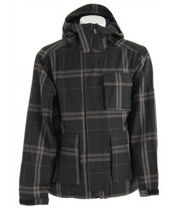 Bonfire Baker Snowboard Jacket Black/Iron Plaid