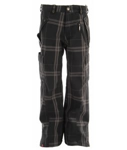 Bonfire Baker Snowboard Pants Black/Iron/Plaid