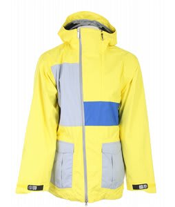 Bonfire Blur Snowboard Jacket Lemon