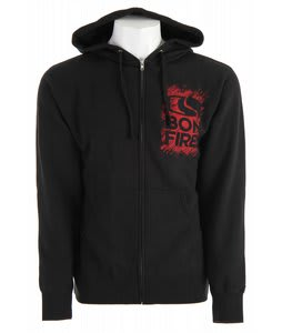 Bonfire Chalk Hoodie Black