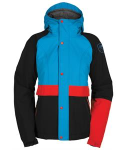 Bonfire Charlie Snowboard Jacket Pool/Black/Poppy