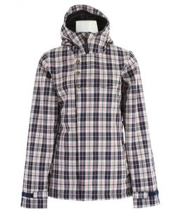 Bonfire Heavenly Snowboard Jacket Silk/Marine/Papaya Plaid
