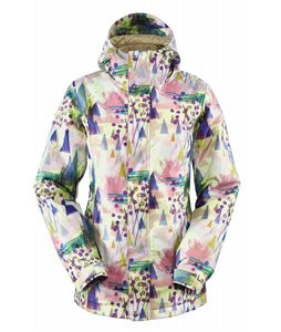 Bonfire Tabor Snowboard Jacket Dusty Rose Silver Falls Print