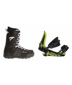 Arctic Edge Snowboard Boots w/ Rossignol Viper V1 Bindings Black/Lime