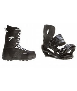 Arctic Edge Snowboard Boots w/ Sapient Stash Bindings Black/Charcoal