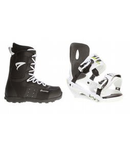 Arctic Edge Snowboard Boots w/ Sapient Stash Bindings White