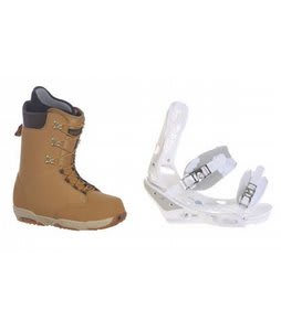 Burton Boxer Snowboard Boots w/ Burton Triad Bindings White