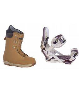 Burton Boxer Snowboard Boots w/ Technine Mfm Pro Bindings Sand